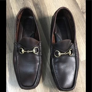 Gucci Horsebit Brown Leather Loafers 10